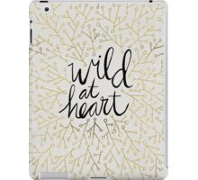 Wild at Heart – Gold Branches on White iPad Case/Skin