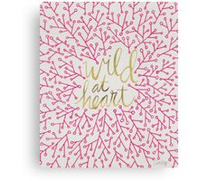 Wild at Heart – Pink & Gold Canvas Print