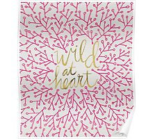 Wild at Heart – Pink & Gold Poster