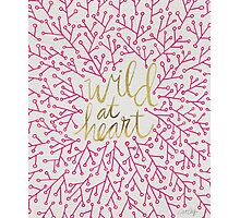 Wild at Heart – Pink & Gold Photographic Print