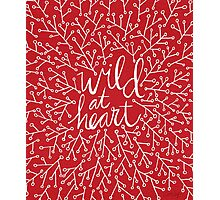 Wild at Heart – Red & White Photographic Print