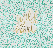 Wild at Heart – Turquoise & Gold by Cat Coquillette