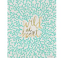 Wild at Heart – Turquoise & Gold Photographic Print