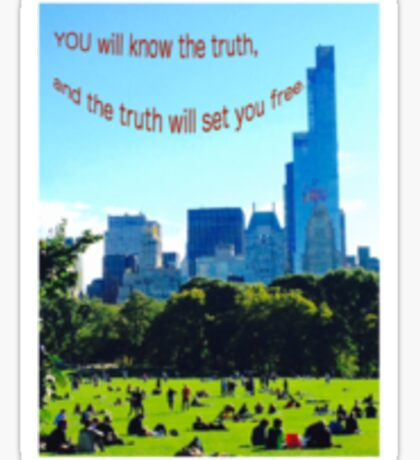 Sheep Meadow in Central Park in the Summer Sticker