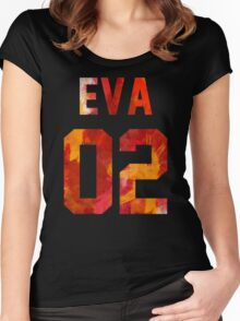 EVA-02 (Neon Genesis Evangelion) Women's Fitted Scoop T-Shirt