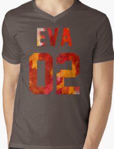 EVA-02 (Neon Genesis Evangelion) Mens V-Neck T-Shirt