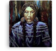 """Purple Dress With Shells"" Canvas Print"