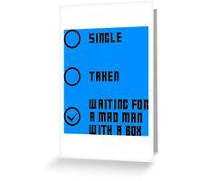 Mad Man with a Box - Dark Greeting Card