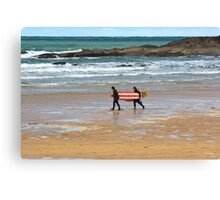 Walk To The Waves Canvas Print