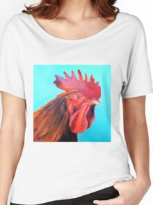 Reagan the Rooster, from original oil painting by Madeleine Kelly Women's Relaxed Fit T-Shirt