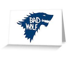 Bad Wolf Greeting Card