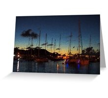 Gustavia, St. Barts Harbor Impressions Greeting Card