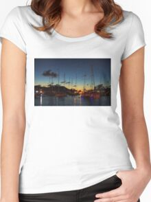 Gustavia, St. Barts Harbor Impressions Women's Fitted Scoop T-Shirt