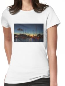 Gustavia, St. Barts Harbor Impressions Womens Fitted T-Shirt