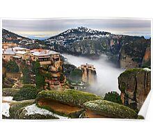 Varlaam & Roussanou monasteries - Meteora Poster