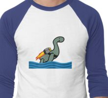Rocket Nessie Men's Baseball ¾ T-Shirt