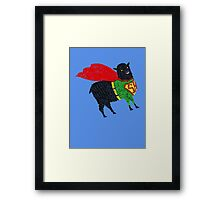 Superhero  Sheep Framed Print