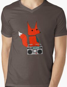 music fox Mens V-Neck T-Shirt