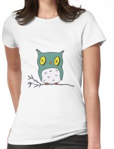 Zombie Owl Womens Fitted T-Shirt