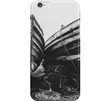 Weathered Wooden Crab Boats iPhone Case/Skin
