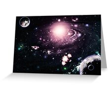 Abstract space galaxy Greeting Card