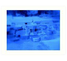 Fountain of Blue Art Print