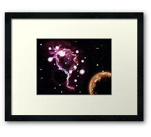 Big pink nebula 2 Framed Print