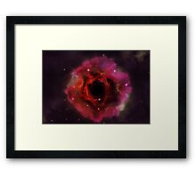 Black hole in the space Framed Print