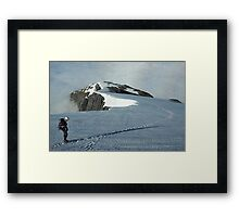Climber on French Ridge, Mt Aspiring NP, New Zealand Framed Print