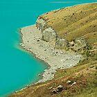 Cliffs by Lake Pukaki, New Zealand by Hugh Chaffey-Millar