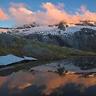 Tarn Reflections, Mt Aspiring NP, New Zealand by Hugh Chaffey-Millar