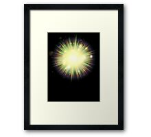Abstract colorful exploding star 3 Framed Print