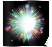 Abstract colorful exploding star 4 Poster