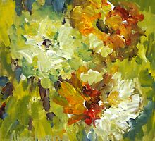APRIL FLOWERS PAINTING by Bob Abrahams