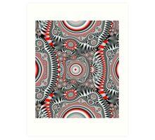 Inner Circles, Geometric Fractal design Art Print