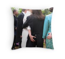 From Behind! Throw Pillow
