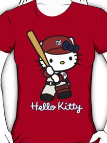 Hello Kitty Washington Nationals Baseball T-Shirt