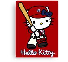 Hello Kitty Washington Nationals Baseball Canvas Print
