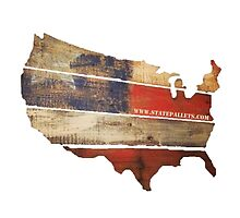USA Map from State Pallets by Statepallets