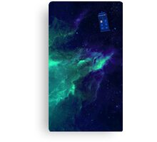 TARDIS flying through space Canvas Print