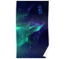 TARDIS flying through space Poster