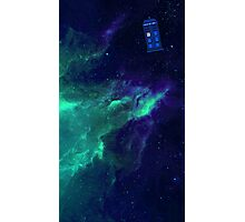 TARDIS flying through space Photographic Print