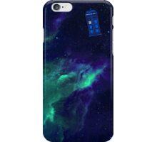 TARDIS flying through space iPhone Case/Skin