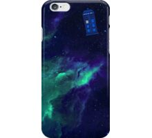TARDIS flying through space iPhone Case/Skin