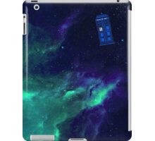 TARDIS flying through space iPad Case/Skin