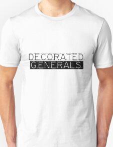 Decorated Generals Black Unisex T-Shirt