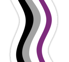 Asexual Scarfy Sticker