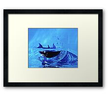 Dolphin in a small world Framed Print