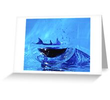 Dolphin in a small world Greeting Card