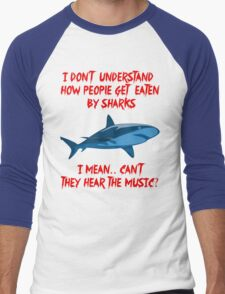 Sharks - Hear The Music Men's Baseball ¾ T-Shirt